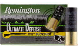 "Remington Ammunition 12B008RRHD Ultimate Defense 12GA 2.75"" Buckshot 8 Pellets 00 Buck - 5sh Box"