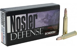 Nosler 39674 Defense Rifle 223 Rem/5.56 NATO Bonded Solid Base 64 GR - 20rd Box