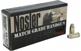 Nosler 51271 Match Grade 45 ACP Jacketed Hollow Point 185 GR - 50rd Box