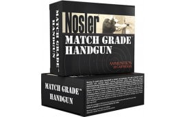 Nosler 51286 Match Grade 9mm Luger 124 GR Jacketed Hollow Point - 20rd Box