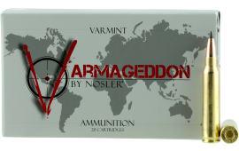 Nosler 65139 Varmageddon .223/5.56 NATO 53 GR Flat Base Tip - 20rd Box