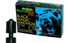 "Brenneke SL123BMM Black Magic Magnum 12GA 3"" 1-3/8oz Slug - 5sh Box"