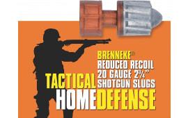 "Brenneke SL202THD Tactical 20GA 2.75"" 3/4oz Slug Shot - 5sh Box"