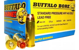 Buffalo Bore Ammunition 3H/20 45 Colt Lead-Free Barnes XPB 225 GR - 20rd Box
