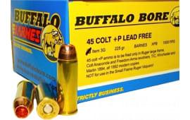 Buffalo Bore Ammunition 3G/20 45 Colt +P Lead-Free Barnes XPB 225 GR - 20rd Box
