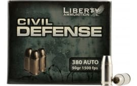 Liberty LA-CD-380-023 Civil Defense 380 ACP 50 GR LF Fragmenting HP 20Bx - 20rd Box
