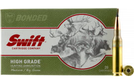Swift 10112 Medium/Big Game Scirocco II 7mm-08 Remington 150 GR Spitzer Boat Tail - 20rd Box
