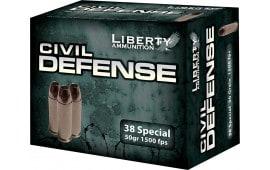 Liberty LA-CD-38-025 Civil Defense 38 Special LF Fragmenting HP 50 GR 20Bx - 20rd Box