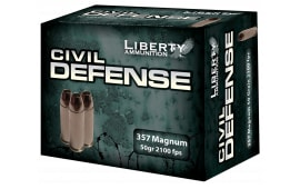 Liberty LACD357030 Civil Defense 357 Magazine 50 GR LF Fragmenting HP 20Bx - 20rd Box