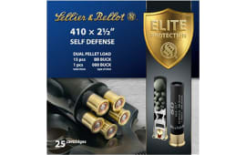 "Sellier & Bellot SB410SDA Shotgun 410GA 2.5"" Lead 15 Pellets 000 Buck - 25sh Box"