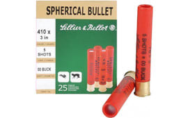 "Sellier & Bellot V051562U 410GA 3"" 00 Buckshot 5 Pellets - 25sh Box"