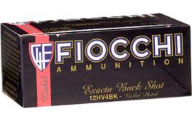 "Fiocchi 12HV4BK High Velocity 12 GA 2.75"" Nickel-Plated Lead 27 Pellets 4 Buck - 10sh Box"