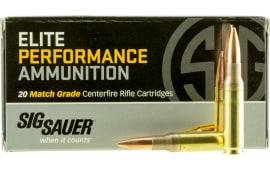 Sig Sauer E308M120 Match Grade 308 Winchester/7.62 NATO 168 GR Open Tip Match - 20rd Box
