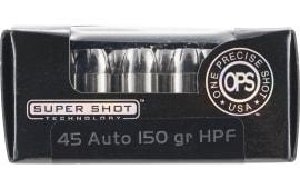 Ammo Inc 45150HPF OPS 45 ACP 150 GR Hollow Point - 20rd Box