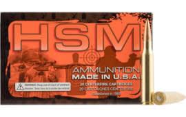HSM 338LAP3N 338 Lapua Magnum 300 GR Boat Tail Hollow Point - 20rd Box