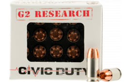 G2 Research Civic 380 Civic Duty 380 ACP 64 GR Copper Expansion Projectile - 20rd Box