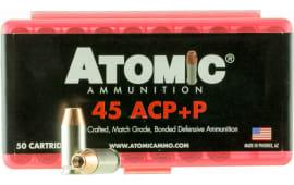 Atomic 00412 Defense 45 ACP +P 185 GR Bonded MHP - 50rd Box