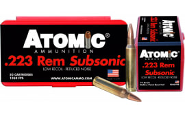 Atomic 00429 Subsonic 223 Remington/5.56 NATO 77 GR HPBT - 50rd Box
