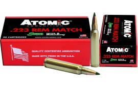 Atomic 00459 Match 223 Remington/5.56 NATO 77 GR Tipped MatchKing - 20rd Box
