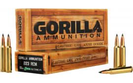 Gorilla Ammunition GA22355SBK Gorilla Match 223 Remington/5.56 NATO 55 GR Sierra BlitzKing - 20rd Box