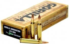 Gorilla Ammunition GA22377SMK Gorilla Match 223 Remington/5.56 NATO 77 GR Sierra MatchKing - 20rd Box