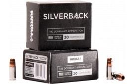 Gorilla Ammunition SB9135SD Silverback 9mm Luger 135 GR Solid Copper Hollow Point - 20rd Box