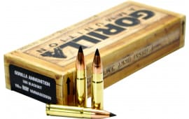 Gorilla Ammunition GA300110NV Gorilla Match 300 AAC Blackout/Whisper (7.62X35mm) 110 GR Flat Base Tip - 20rd Box