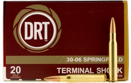 Dynamic Research Tech 00108 Terminal Shock 30-06 150 GR Hollow Point Boat Tail - 20rd Box