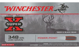 Winchester Ammo X3484 Super-X 348 Winchester 200 GR Power-Point - 20rd Box