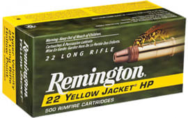 Remington 1722 Yellow Jacket 22 LR Truncated Cone Hollow Point 33 GR - 50rd Box