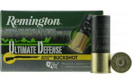 "Remington Ammunition 12BRR4HD Ultimate Defense 12 GA 3.5"" Buckshot 21 Pellets 4 Buck - 5sh Box"