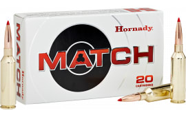 Hornady 81620 Match 6.5 Precision Rifle Cartridge (PRC) 147 GR ELD-Match - 20rd Box