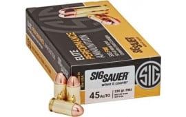 Sig Sauer E45BA3200 Elite Ball 45 ACP 230 GR Full Metal Jacket - 200rd Box