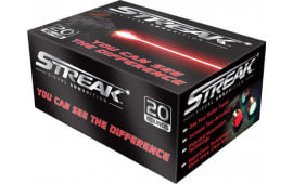 Ammo Inc 380090JHP-STRK Streak Red 380 ACP 90 GR Jacketed Hollow Point - 20rd Box