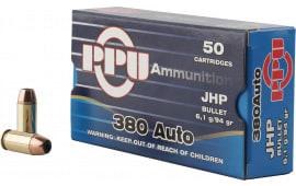 PPU PPR3.21 Handgun 380 ACP 94 GR Jacketed Hollow Point - 50rd Box