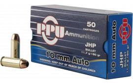 PPU PPR101 Handgun 10mm Automatic 180 GR Jacketed Hollow Point - 50rd Box