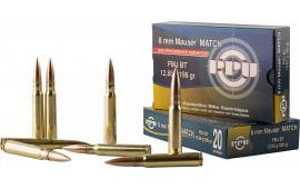 PPU PPM8 Match 8mm Mauser 200 GR Full Metal Jacket - 20rd Box