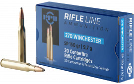 PPU PP2702 Standard Rifle 270 Winchester 150 GR Soft Point - 20rd Box
