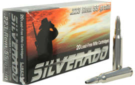 Liberty Ammunition LACD223019 Silverado .223/5.56 NATO 55 GR Boat Tail Hollow Point 20 Bx - 20rd Box