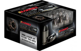 Barnes 21551 TAC-XPD 9mm+P 115 GR TAC-XP - 20rd Box