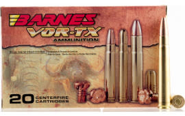 Barnes 22031 VOR-TX 470 Nitro Express Round Nose Banded Solid 500 GR - 20rd Box
