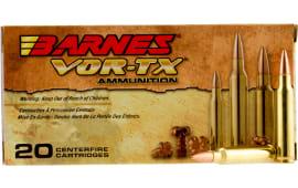 Barnes Bullets 31190 VOR-TX .223/5.56 NATO 62 GR TSX Boat Tail - 20rd Box