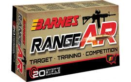 Barnes 30844 Range AR 5.56 NATO 52 GR Otfb - 20rd Box