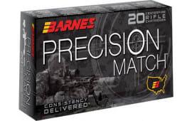 Barnes Bullets 30848 Precision Match .223/5.56 NATO 85 GR OTM - 20rd Box