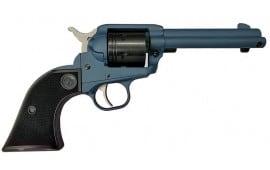 """Ruger Wrangler Cowpoke Revolver 4.6"""" Barrel 22LR 6-Shot - Checkered Wood Grips W/ Cerakote Cobalt Finish - Includes DeSantis Wildhog Holster - 02014"""