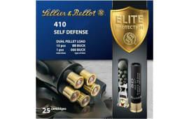 "Sellier & Bellot SB410SDB Shotgun 410GA 3"" Lead 15 Pellets 000 Buck - 25sh Box"