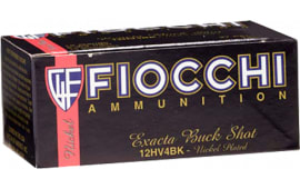 "Fiocchi 12HV4BK High Velocity 12GA 2.75"" Nickel-Plated Lead 27 Pellets 4 Buck - 10sh Box"