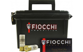 "Fiocchi 12FLE00B 12GA LE 00BK 80rd Plano Box 2.75"" 9 Pellets Nickel Plated - 80sh Case"