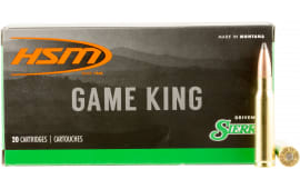 HSM 30842N Game King 308 Winchester/7.62 NATO 165 GR SBT - 20rd Box