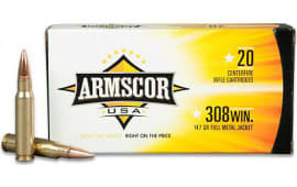 Armscor AC3082N 308 Winchester/7.62 NATO 168 GR Hollow Point Boat Tail - 20rd Box